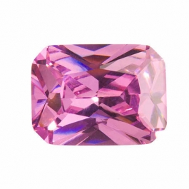 20X15mm Octagon Pink Rose CZ - Pack of 1