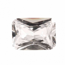 20X15mm Octagon White CZ - Pack of 1