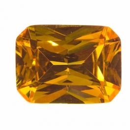 20X15mm Octagon Golden Yellow CZ - Pack of 1