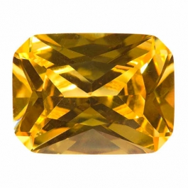 20X15mm Octagon Yellow CZ - Pack of 1