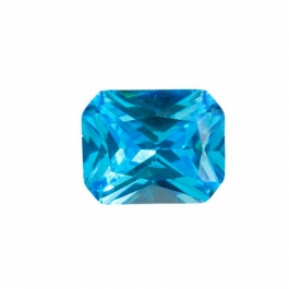 9x7mm Octagon Blue CZ - Pack of 1