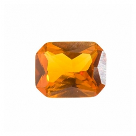 9x7mm Octagon Citrine CZ - Pack of 1