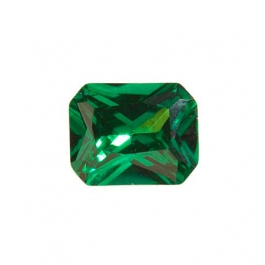 9x7mm Octagon Emerald Green CZ - Pack of 1