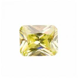 9x7mm Octagon Apple Green CZ - Pack of 1