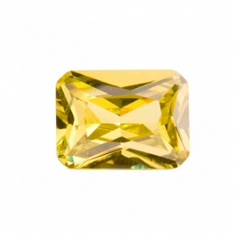 9x7mm Octagon Peridot CZ - Pack of 1