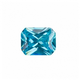 9x7mm Octagon Aquamarine CZ - Pack of 1