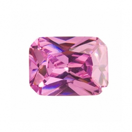 9x7mm Octagon Pink Rose CZ - Pack of 1