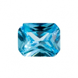 9x7mm Octagon Blue Topaz CZ - Pack of 1