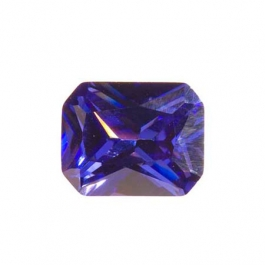 9x7mm Octagon Tanzanite CZ - Pack of 1