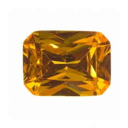 9x7mm Octagon Golden Yellow CZ - Pack of 1