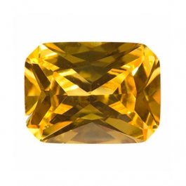 9x7mm Octagon Yellow CZ - Pack of 1
