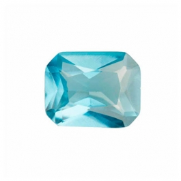 9x7mm Octagon Blue Zircon CZ - Pack of 1