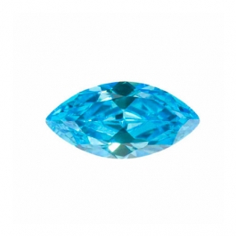 10X5mm Marquise Blue Topaz CZ - Pack of 2