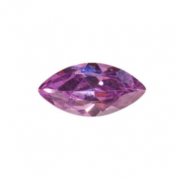 10X5mm Marquise Light Amethyst CZ - Pack of 2