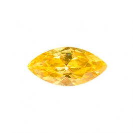 10X5mm Marquise Yellow CZ - Pack of 2