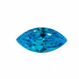 14X7mm Marquise Blue CZ - Pack of 1