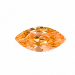14X7mm Marquise Dark Champagne CZ - Pack of 1