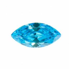 14X7mm Marquise Blue Topaz CZ - Pack of 1