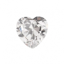 4x4mm Heart White CZ - Pack of 2
