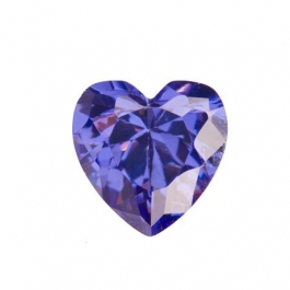 8X8mm Heart Tanzanite CZ - Pack of 1