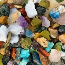 WireJewelry 1.5 lbs of Bulk Rough Madagascar Stone Mix - Large Natural Rough Stone and Crystals for Tumbling