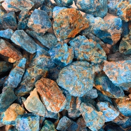 WireJewelry 1.5 lbs of Bulk Rough Blue Apatite Stone - Large Natural Rough Stone and Crystals for Tumbling