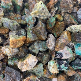 WireJewelry 11 lbs of Bulk Rough Chrysocolla Stone - Large Natural Rough Stone and Crystals for Tumbling