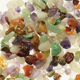 New! 1 Kilo Tumbled Undrilled Small Gemstone Chips - 1 Kilo Bag