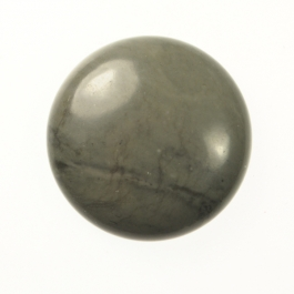 25mm Gray Jasper Round Cabochon - Pack of 1