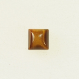 Tiger Eye 6mm Square Cabochon - Pack of 2