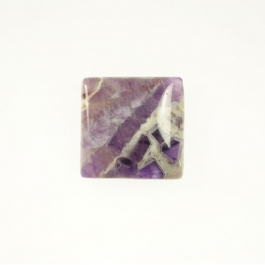 Dog Teeth Amethyst 10mm Square Cabochon - Pack of 2