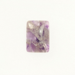 Dog Teeth Amethyst 6x8mm Rectangle Cabochon - Pack of 2