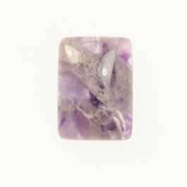 Dog Teeth Amethyst 10x14mm Rectangle Cabochon - Pack of 2