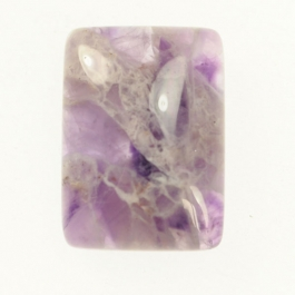 22x30mm Dog Teeth Amethyst Rectangle Cabochon - Pack of 1