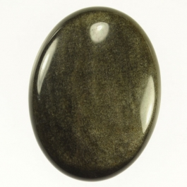 Golden Obsidian 30x40mm Oval Cabochon