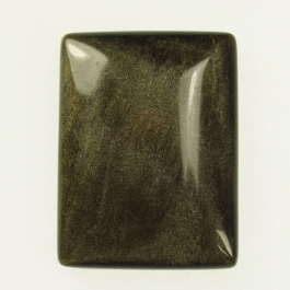 22x30mm Golden Obsidian Rectangle Cabochon - Pack of 1