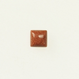 Goldstone 6mm Square Cabochon - Pack of 2