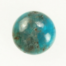 Blue Apatite 10mm Round Cabochon - Pack of 2