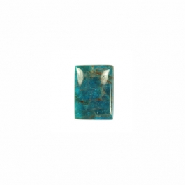 Blue Apatite 6x8mm Rectangle Cabochon - Pack of 2