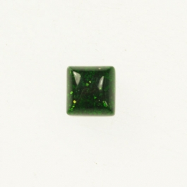 Green Goldstone 6mm Square Cabochon - Pack of 2