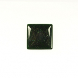 Green Goldstone 10mm Square Cabochon - Pack of 2