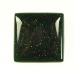 Green Goldstone 25mm Square Cabochon