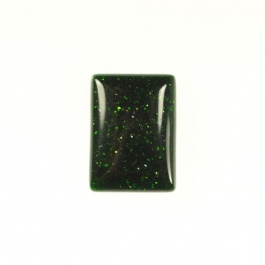 Green Goldstone 10x14mm Rectangle Cabochon - Pack of 2