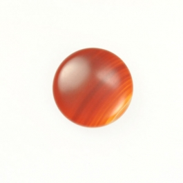 Matte Carnelian 10mm Round Cabochon - Pack of 2