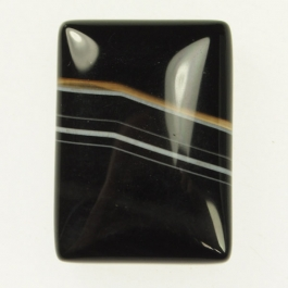 Sardonyx 22x30mm Rectangle Cabochon - Pack of 1