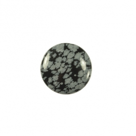 Snowflake Obsidian 10mm Round Cabochon - Pack of 2
