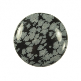 Snowflake Obsidian 25mm Round Cabochon