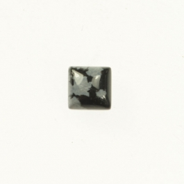Snowflake Obsidian 6mm Square Cabochon - Pack of 2