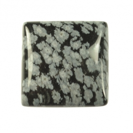 Snowflake Obsidian 25mm Square Cabochon
