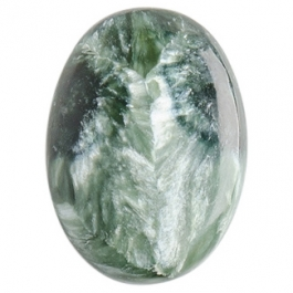 Seraphinite 13x18mm Oval Cabochon